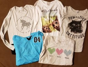 NWOT Lot of Girls Justice Shirts